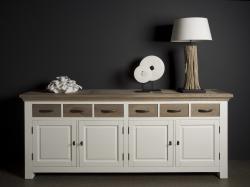 Parma white dressoir 220cm. € 1135,-